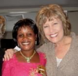 Claudia Porter with Agnes Ubega